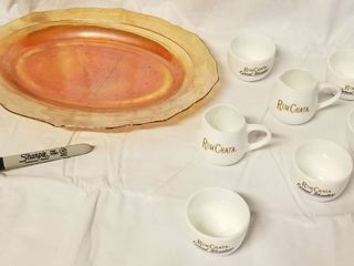 Vintage Amber Colored Plater    lot of SM  Carmel Shooters