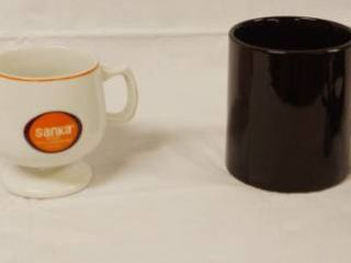 lot of 3 Coffee Cups and a Cable