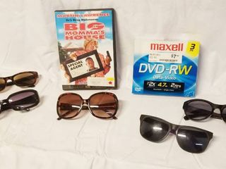 lot of 5 Sunglasses  Big Momma s House DVD Movie  and Maxell DVD RW  3
