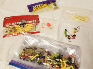 lot of Rubber Fishing Worms and lures