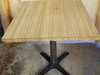 Restaurant Table 30  x 30  and 29  Tall