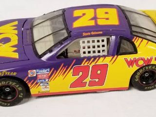 Collectible Die Cast Race Car w  Movable Hood   Trunk    29   WOW   World Championship Wrestling