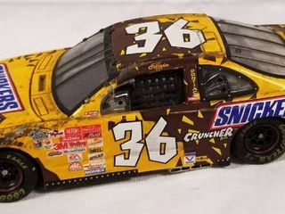Collectible Die Cast Race Car   36 Snickers Cruncher  w  Movable Hood and Trunk