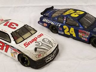 lot of 2 Collectible Race Cars  Die Cast Cars    31 Snap on     24 Pepsi  See Photos