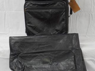 Black Carrying Clothes Traveling Bag and a Suit Case w  Wheels