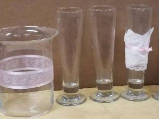 lot of Decorative Glass Vases   Great for Spring Weddings or Parties