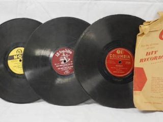 lot of 5 Vintage 78 rpm Records  Capitol   Wabash Blues  Columbia   Shadrack  ect  See Photos