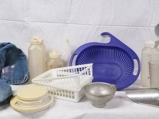 lot of Misc  Items   Colander  Scale  Faded Glory 4t   3t Jeans and More