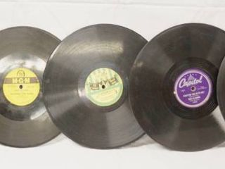 lot of 5 Vintage 78 rpm Records  King  Capitol  Cinderella  MGM See Photos