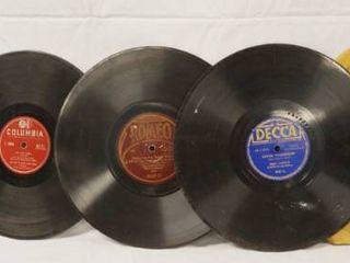 lot of 5 Vintage 78 rpm Records  Mercury  Columbia  Romeo  Decca    Columbia Records  See Photos