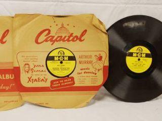 lot of 4 Vintage 78 rpm Records  Brunswick  M G M    Okeh Records  See Photos