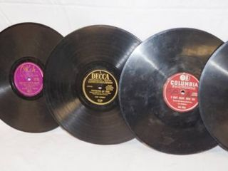 lot of 5 Vintage 78 rpm Records  Columbia  OKeh  Deeca  Columbia  and Columbia  See Photos