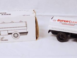 Collectible Philips 66 Tanker Truck  Super Clean  with locking Coin Bank  w  Key   Die Cast Metal