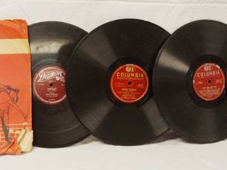 lot of 4 Vintage 78 rpm Records  Varsity  Damon and 3 Columbia Records  See Photos