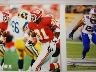 2 8x10 Photos of Kansas City Chiefs Football and 1 8x10 Photo Football Player  See Photos