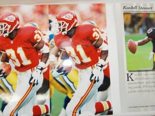 2 8x10 Photos of Kansas City Chiefs Football and 1 8x10 Photo of  Kordell Stewart  Steelers Football Player  See Photos