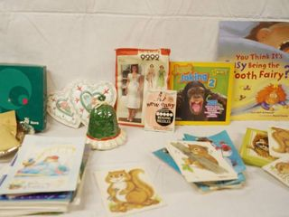 lot of Cards   Sewing Items  Silver Bowl WMF IKORA   569 6315  Books and More