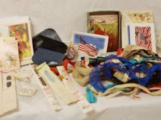 lot of Misc  Cards  and lot of Zippers and Patches for Sewing