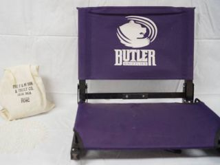 Bank Bag  The F M Bank   Trust Co  w  Paper Coin Organizers  and Butler Grizzle Bleacher Chair