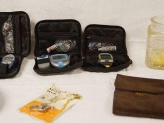 lot of Misc  Items   Glucose meters    AVON Bottle   Jug   etc