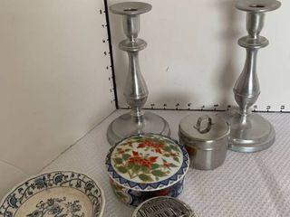 Candle stick holders and assorted storage