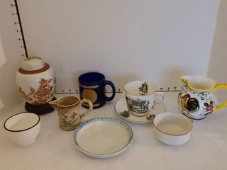 Assorted cups saucers and more