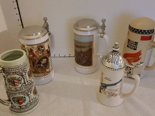 Assorted steins