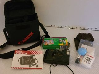 Canon snappy camera with case