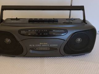 AM and FM cassette radio and recorder