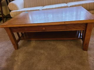 Oak coffee table 45 X 28 X16