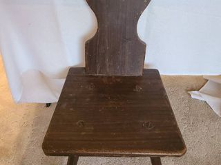 Wooden peasant chair