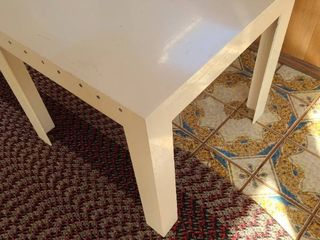 Plastic table 21x24x24  Crack on side has been reinforced