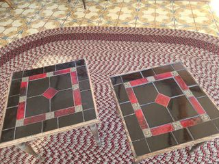 Two tiled tables 15x16x16