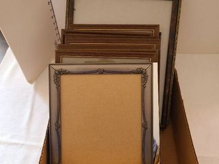 Box of picture frames  8 1 2 by 11 and larger