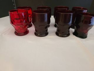 Mosser Ruby Red glassware  set of eight