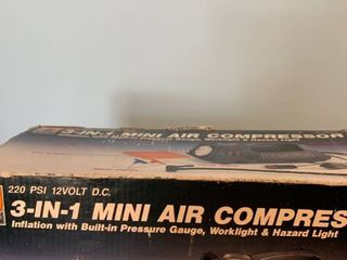 Three in one mini air compressor