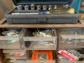 Assorted screws  washers  sockets and more