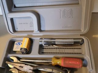 Variety of tools in Dremel case  No Dremel