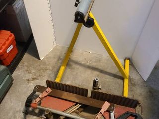 Mitre saw with support stand