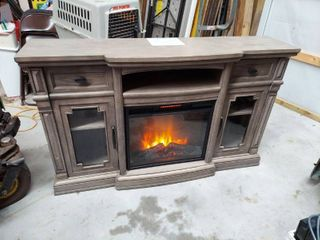 Console with Electric Fireplace Heater