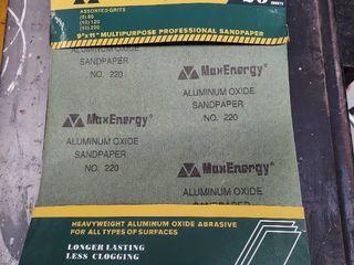 Max Energy 9  X 11  Aluminum Oxide Sandpaper   25 Pcs