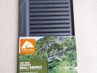 Ozark Trail Small Cast Iron Reversible Griddle  Pre Seasoned