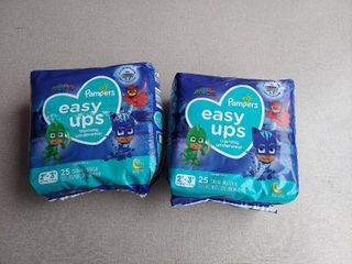 2  Pampers Easy Ups Boys Training Pants  Size 2T 3T  25 Count