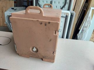 Cambro Transport Container with 3 SS Steam Table Inserts