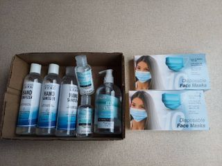 Assorted Hand Sanitizer and Face Masks