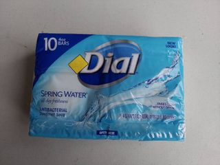 Dial Spring Water Antibacterial Soap Bar  4 Ounce  10 Count