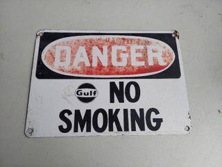 Gulf No Smoking Sign