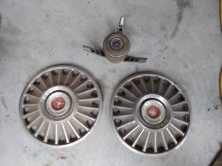 Mustang Parts   2 Hubcaps and Steering Wheel Part