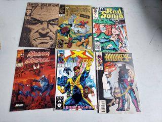 6 Assorted Marvel Comic Books
