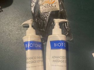 massage lotion and holster
